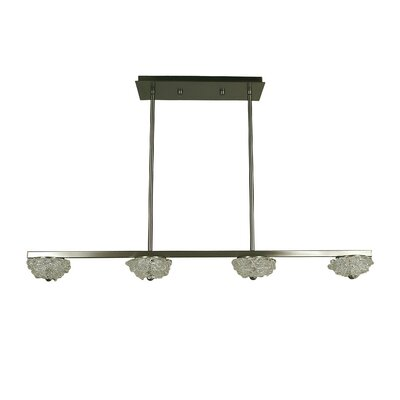 Celeste 4-Light Kitchen Island Pendant Finish: Brushed Nickel