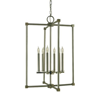 Lexington 6-Light Foyer Pendant Finish: Mahogany Bronze/Antique Brass
