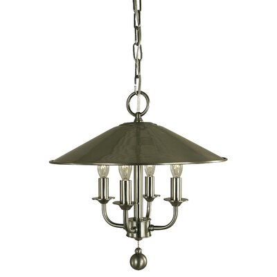 Taylor 4-Light Shaded Chandelier Finish: Mahogany Bronze