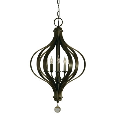 Aries 5-LightFoyer Pendant Finish: Polished Nickel