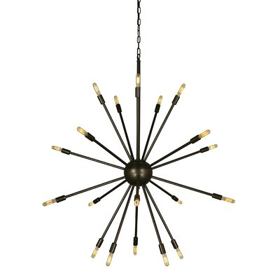 Simone 24-Light Sputnik Chandelier Color: Antique Brass