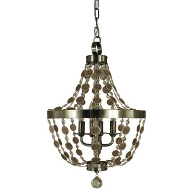 Naomi 4-Light Empire Chandelier Color: Antique Brass