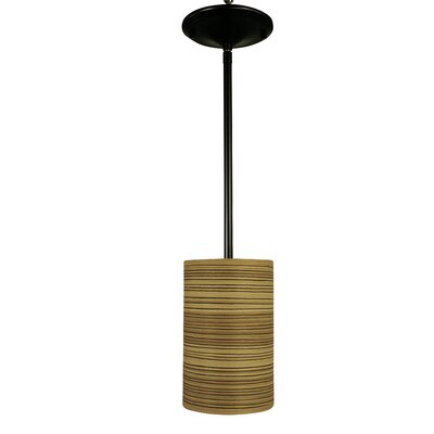 Meridian 1-Light Mini Pendant Finish: Antique Brass