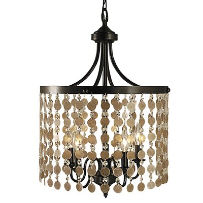 Naomi 5-Light Candle-Style Chandelier Finish: French Brass