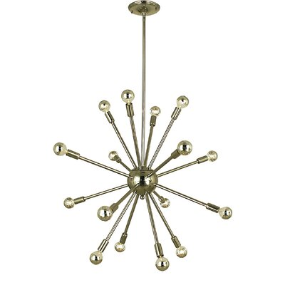 Simone 16-Light Sputnik Chandelier Color: Antique Brass