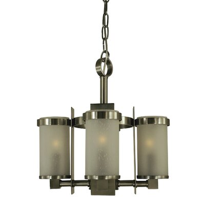 Hammersmith 4-Light Candle-Style Chandelier Shade Color: Frosted, Finish: Brushed Nickel