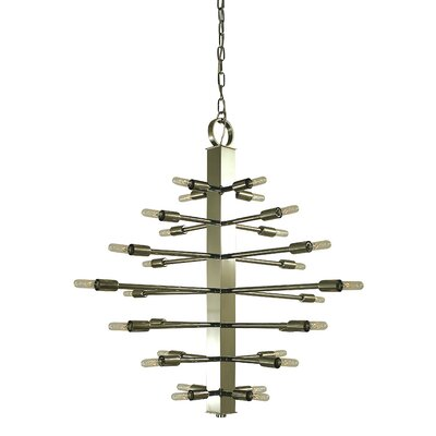 Simone 28-Light Sputnik Chandelier Color: Brushed Nickel, Size: 29 H x 32 W x 32 D
