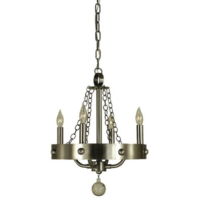 Warwick 4-Light Candle-Style Chandelier Finish: Mahogany Bronze