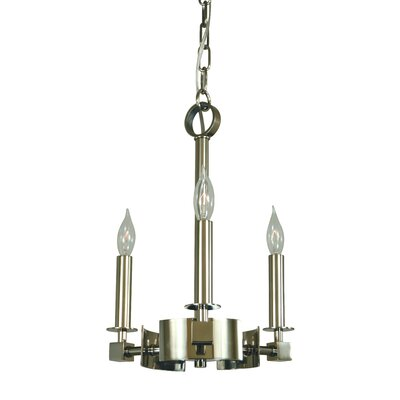 Hammersmith 3-Light Candle-Style Chandelier Finish: Mahogany Bronze