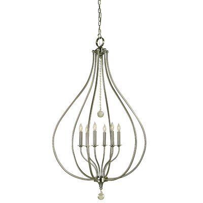 Dewdrop 6-Light Foyer Pendant Color: Mahogany Bronze