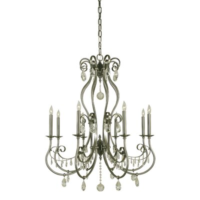 Contessa 8-Light Candle-Style Chandelier Finish: Polished Nickel