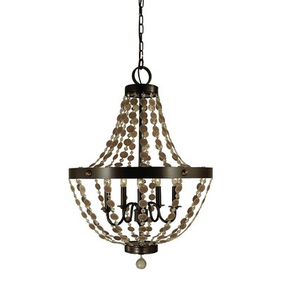 Naomi 5-Light Empire Chandelier Finish: Mahogany Bronze