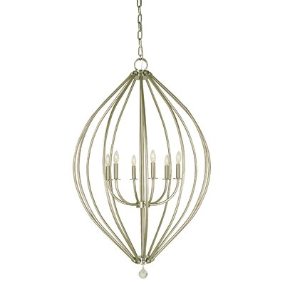 Dewdrop 6-Light Foyer Pendant Finish: Antique Brass