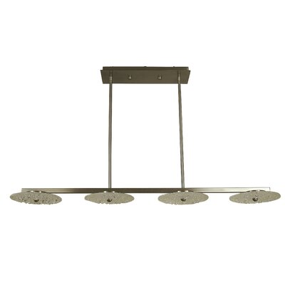 Celeste 4-Light Kitchen Island Pendant Finish: Antique Brass