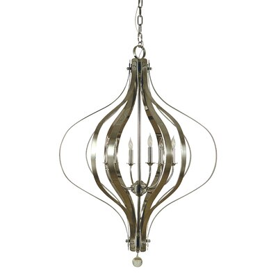 Aries 6-Light Foyer Pendant Color: Brushed Nickel