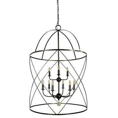 Nantucket 6-Light Foyer Pendant Finish: Mahogany Bronze/Polished Nickel