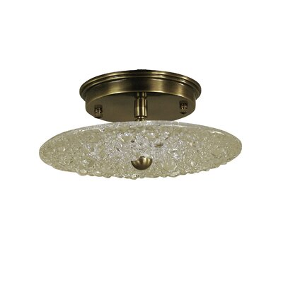 Celeste 1-Light Semi Flush Mount Finish: Antique Brass