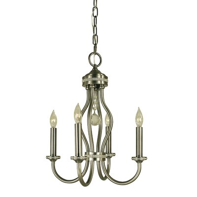 Isolde 4-Light Candle-Style Chandelier Finish: Antique Brass