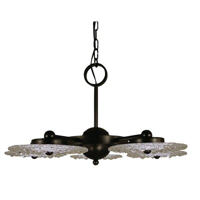 Celeste 5-Light Shaded Chandelier Finish: Mahogany Bronze