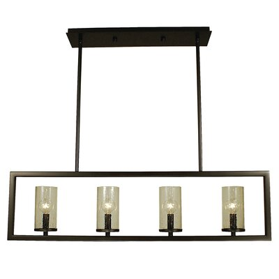 Theorem 4-Light Kitchen Island Pendant Finish: Mahogany Bronze