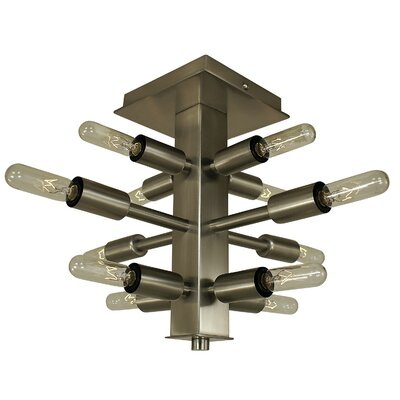 Simone 12-Light Semi Flush Mount Finish: Mahogany Bronze