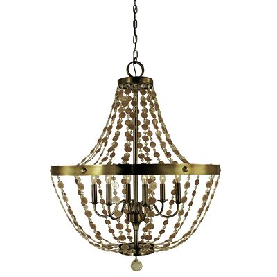 Naomi 6-Light Empire Chandelier Finish: Antique Brass