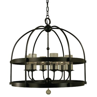 Compass 6-Light Foyer Pendant Color: Mahogany Bronze