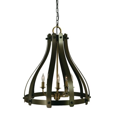 Julienne 5-Light Foyer Pendant Finish: Mahogany Bronze/Antique Brass