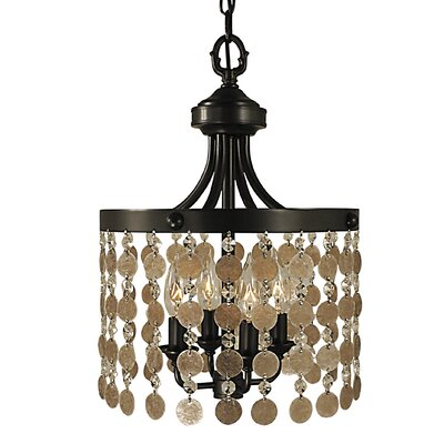Naomi 4-Light Crystal Chandelier Color: Antique Brass