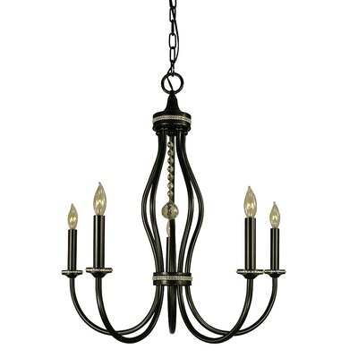 Isolde 5-Light Candle-Style Chandelier Finish: Polished Nickel