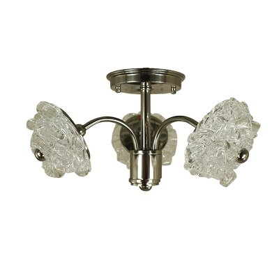 Celeste 3-Light Semi Flush Mount Finish: Antique Brass