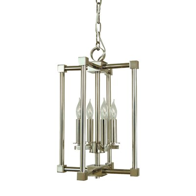 Lexington 4-Light Foyer Pendant Finish: Brushed Nickel/Polished Nickel