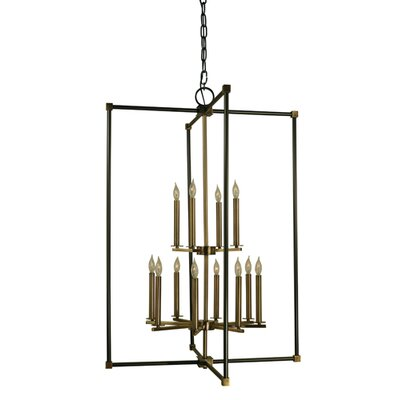 Lexington 12-Light Foyer Pendant Finish: Mahogany Bronze/Antique Brass