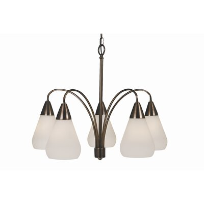 Maisonette 5-Light Shaded Chandelier Finish: Roman Bronze