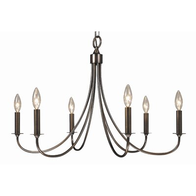 Maisonette 6-Light Candle-Style Chandelier Finish: Polished Silver