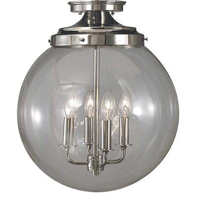 Moderne 4-Light Semi Flush Mount