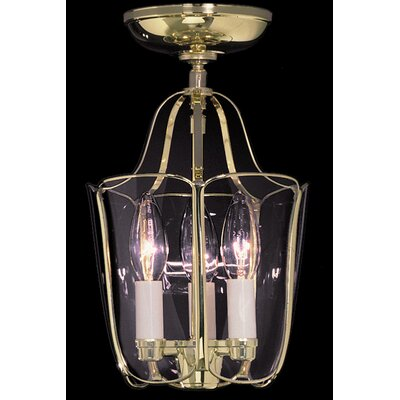 Yorkshire 3-Light Semi Flush Mount Finish: Polished Brass