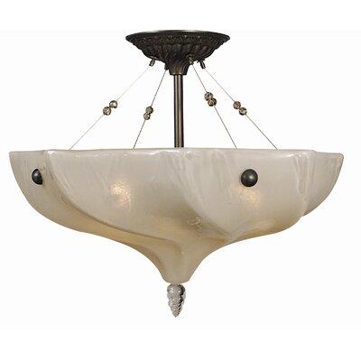 Giselle 3-Light Semi Flush Mount Size: 14 H x 17.5 W