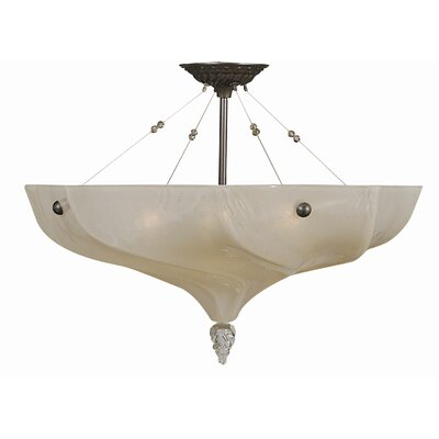 Giselle 3-Light Semi Flush Mount Size: 17 H x 24.5 W