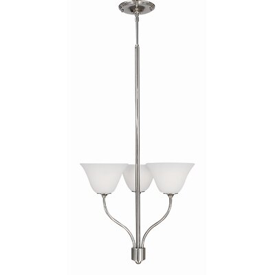 Trianon 3-Light Shaded Chandelier