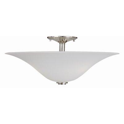 Trianon 3-Light Semi Flush Mount