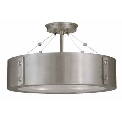 Oracle 4-Light Semi Flush Mount Color: Satin Pewter