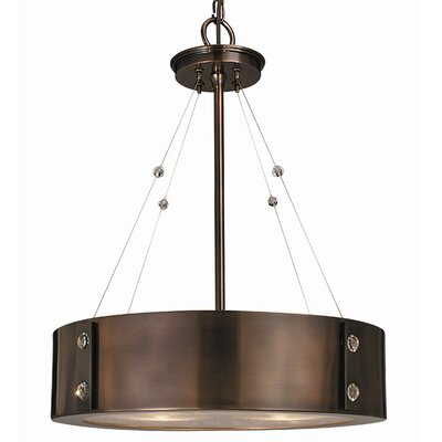 Oracle 4-Light Drum Pendant Color: Roman Bronze, Size: 23 W