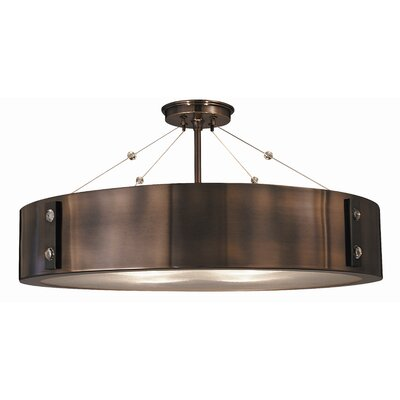 Oracle 23 4-Light Semi Flush Mount Finish: Satin Pewter