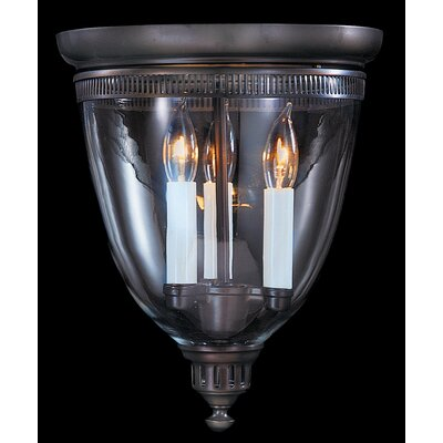 Independence Hall 3-Light Flush Mount Color: Mahogany Bronze