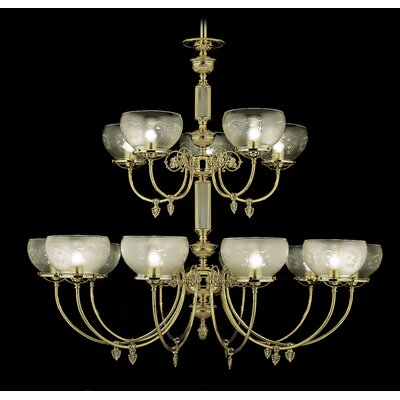 Chancery 15-Light Shaded Chandelier Finish: Polished Brass