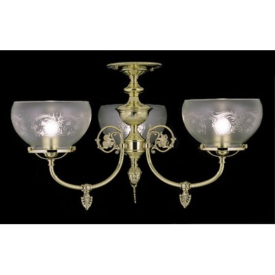 Chancery 3-Light Chandelier Mount Finish: Polished Brass