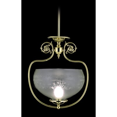 Chancery 1-Light Foyer Pendant Color: Polished Brass
