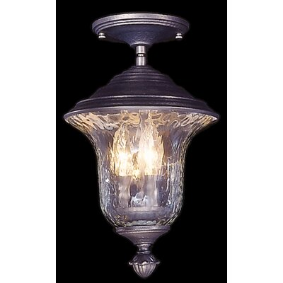 Carcassonne 3-Light Semi-Flush Mount Finish: Iron