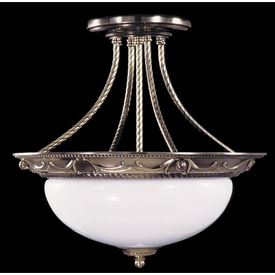 Napoleonic Semi Flush Mount Size: 14.5